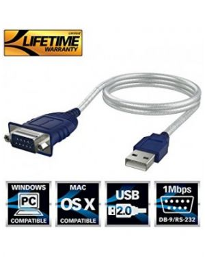 USB 2.0 to Serial Cable Adapter